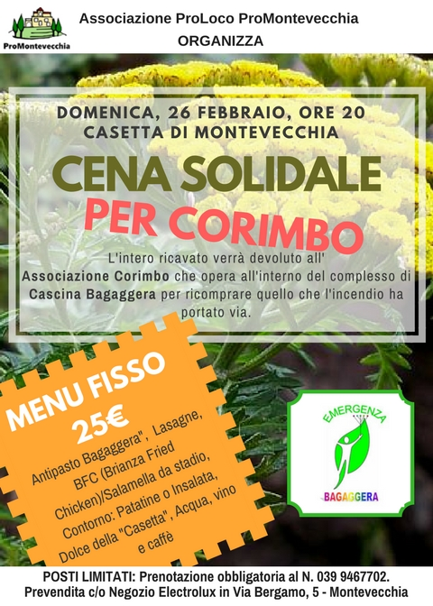 Cena Solidale per Corimbo