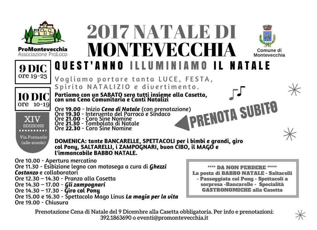 Natale di Montevecchia – Programma in pillole