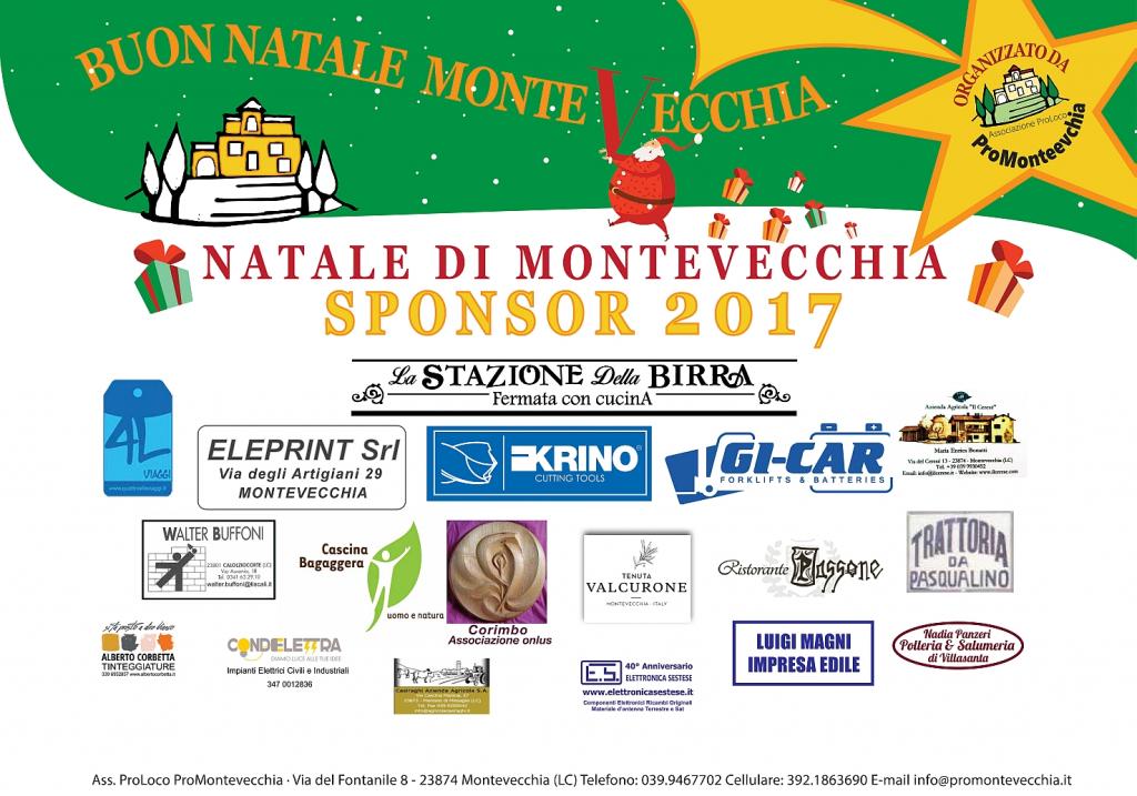 Sponsor Natale Montevecchia 2017 – XIV Edizione