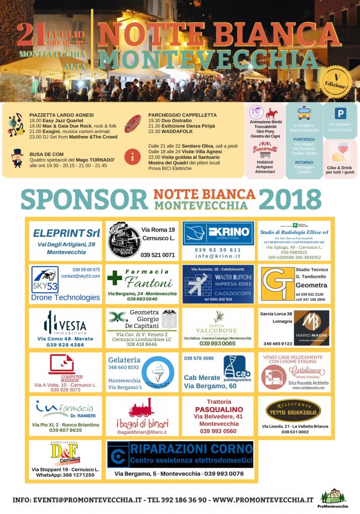 Sponsor Notte Bianca Montevecchia 2018