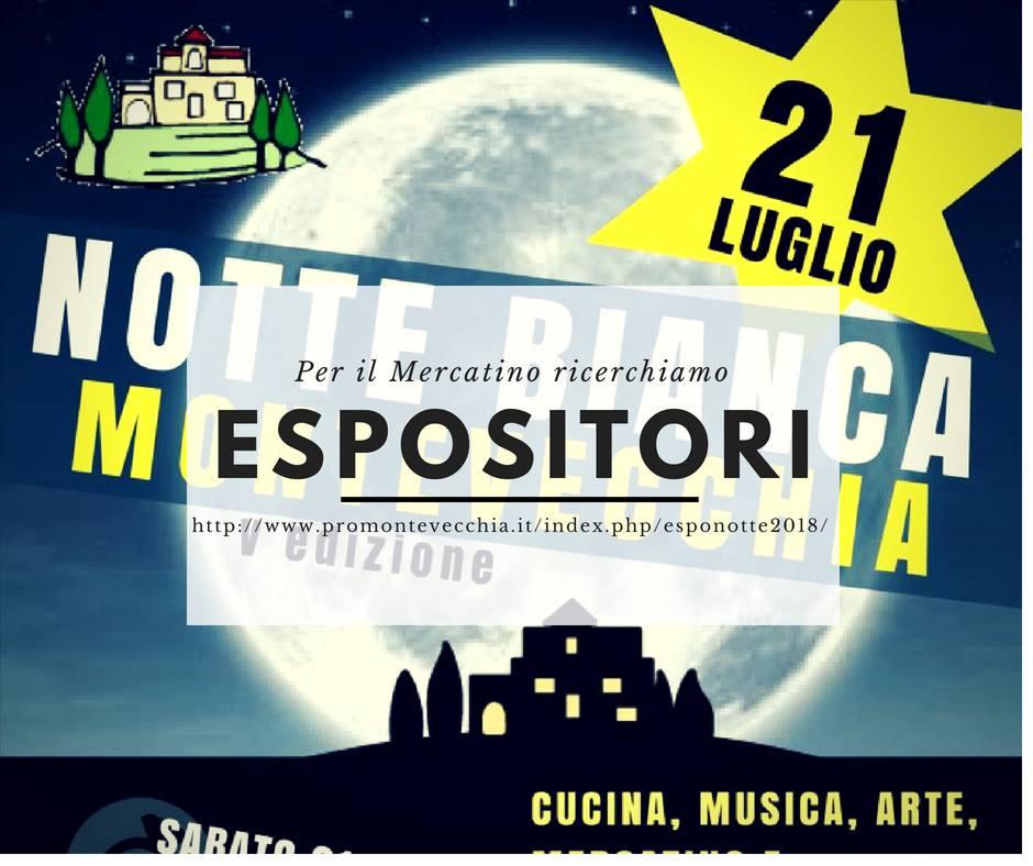 Espositori Notte Bianca Montevecchia 2018