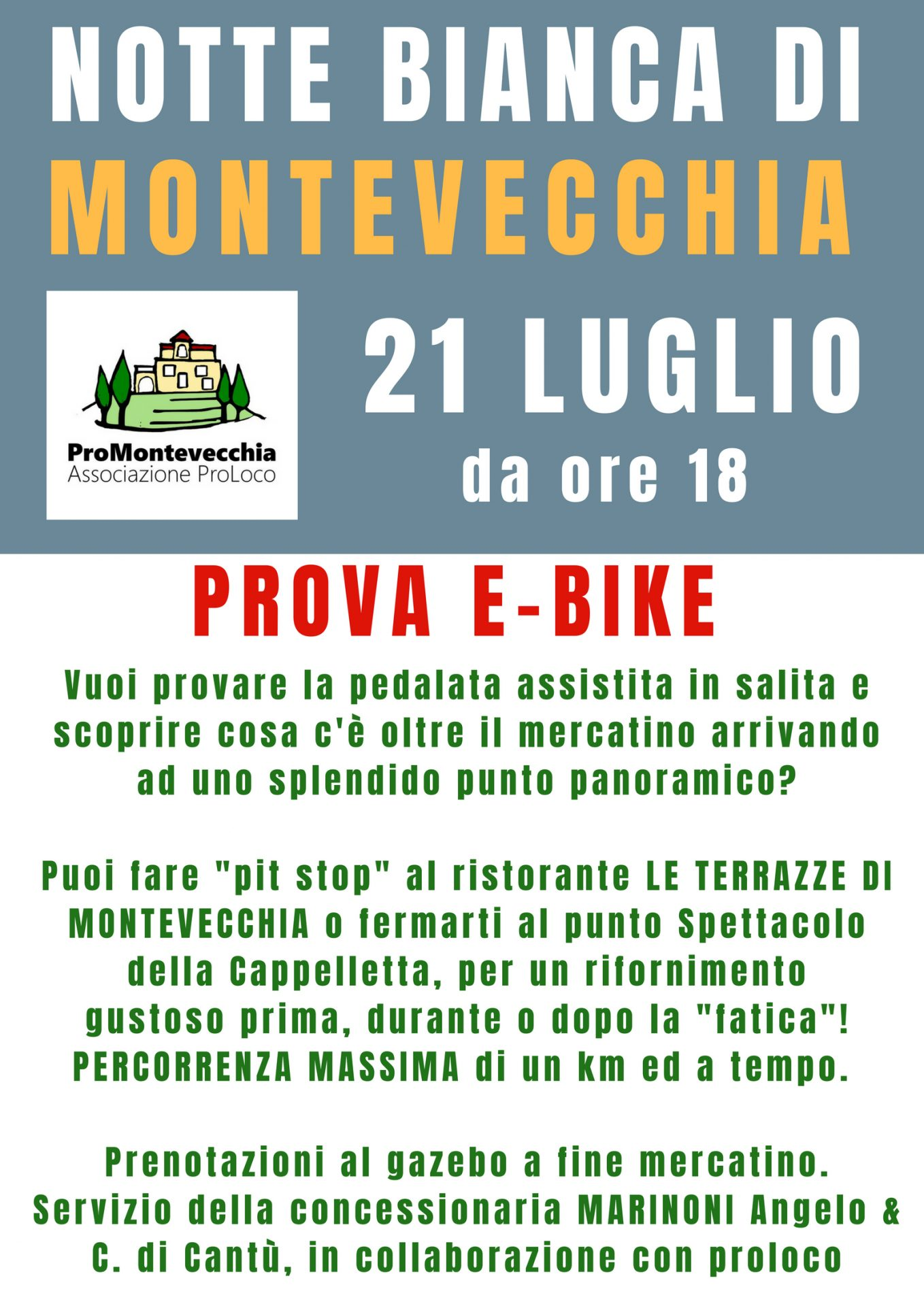 Spettacoli Notte Bianca Montevecchia 2018 | ProMontevecchia