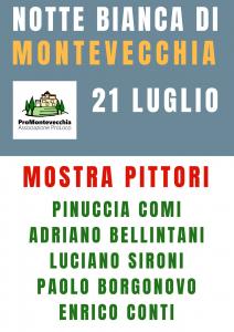 Pittori Notte Bianca Montevecchia 2018