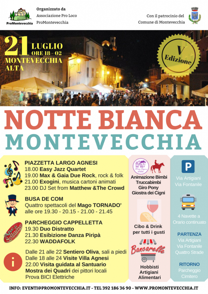 Programma Notte Bianca 2018