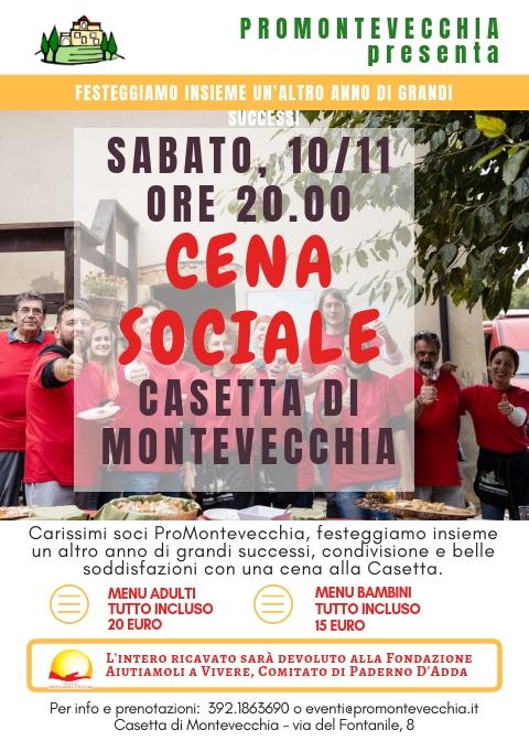 Cena Sociale ProMontevecchia 2018