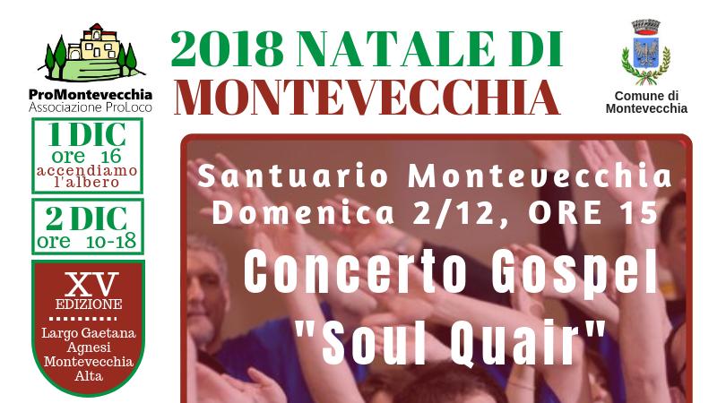 "Natale di Montevecchia – Concerto Gospel ""Soul Quair"""