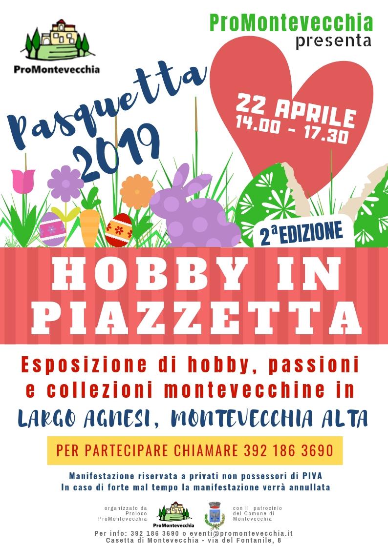 Hobby in piazzetta 2019