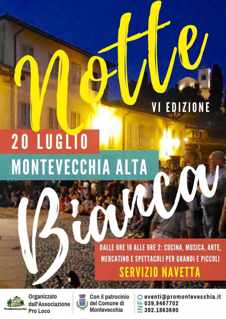 Volantino Notte Bianca Montevecchia 2019