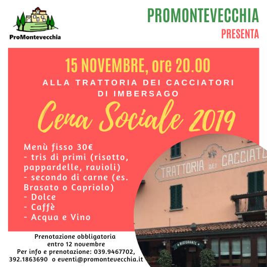 Cena Sociale ProMontevecchia 2019